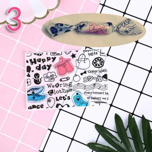 100pcs cartoon print diy waterproof dry wax papers food candy wrapping tissueLD