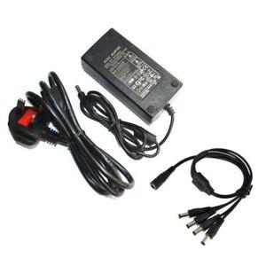 12V 5A 8A 10A Alimentazione Adattatore AC-DC PSU UK plug per la Macchina Fotografica CCTV DVR LED