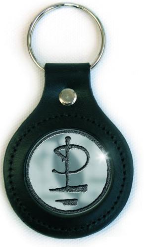 Donna: accessori Motley Crue Shout At The Devil Pentagramma d'argento metallo Portachiavi ufficia Abbigliamento e accessori