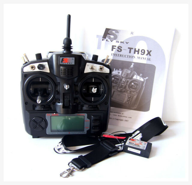 FlySky FS-TH9X-B 2.4G 9CH Transmitter Tx Radio Mode2 & Receiver Rx & Neck Strap