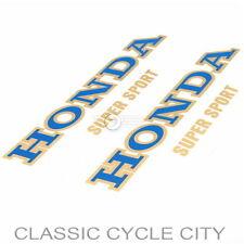 Honda CB 400 Four Tank Aufkleber Zierstreifen Dekor Blau / Gold Fuel Tank Decals