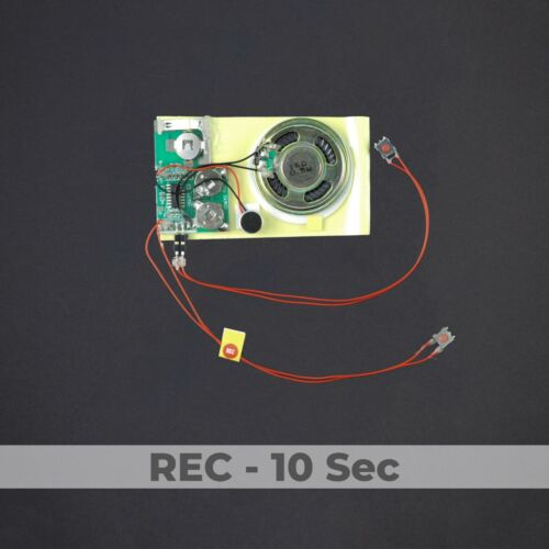DIY Greeting card project recordable sound module Push Button 10 sec YOU record!