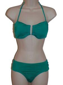 Bar-III-green-bandeau-bikini-size-M-swimsuit-women-new