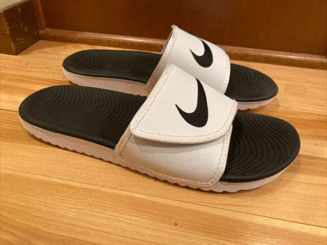 Nike Kawa Adjust Men Size 10 - 834818-101 Slide White/Black/White