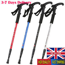 Foldable Trekking Pole 4 Sections with Anti Shock System 135cm Red Red Trespass Oreas
