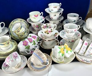 Vintage-Afternoon-Tea-or-Cabinet-Cups-Saucers-Plates-Choose-Duo-from-Trio