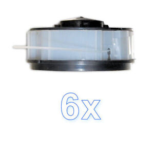 6 Spulen Set passend für Kingcraft Elektro Rasentrimmer KCR 450 451 500 500 GB