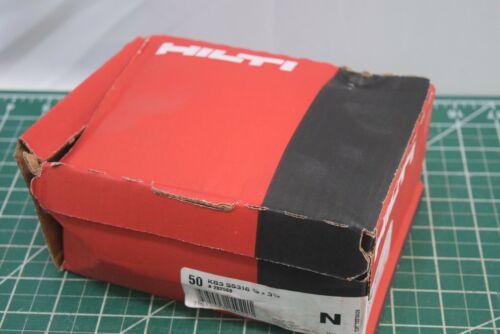 Box of 50 HILTI KB3 Kwik Bolt Expansion Anchor SS316 3//8 X 3 3//4 concrete wedge