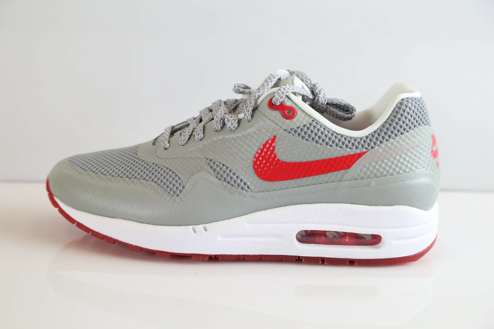 Nike Womens Air Max 1 Fuse Matte Silver Hyper Red 580783-001 7-11 90