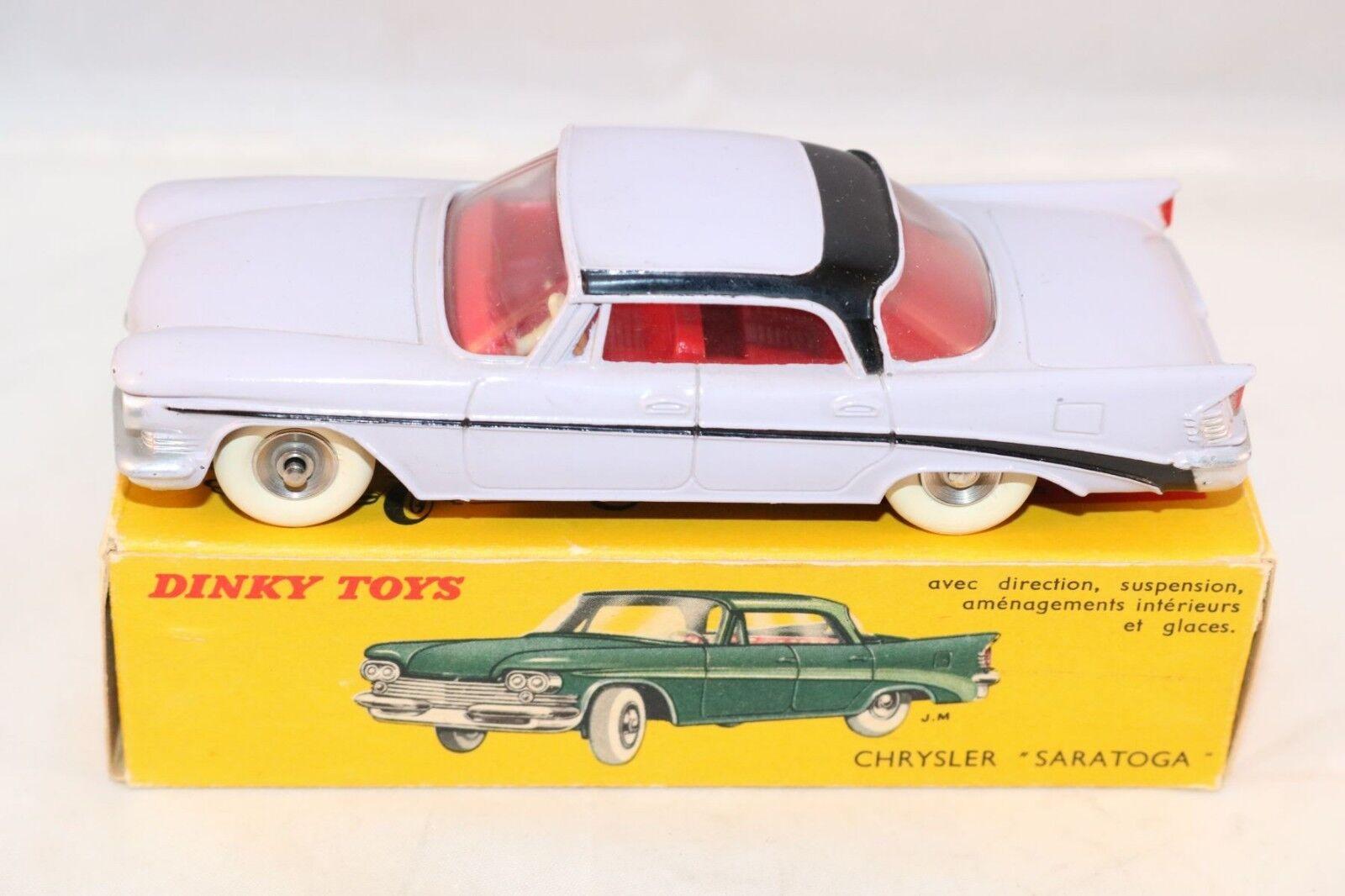 Dinky Toys 550 Chrysler  Saratoga  2 tone violac very near mint in box SUPERB