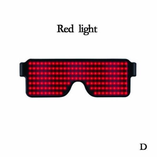 LED-Licht Brille Quick Party USB Aufladung Luminous Decor Party K3J1