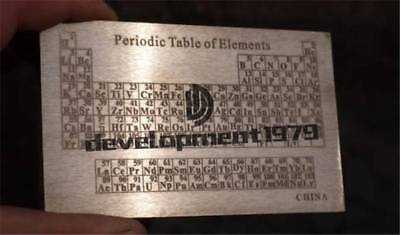 99.9/% Carbon C Carved Element Periodic Table Board Model 5*60*100mm 55.4g