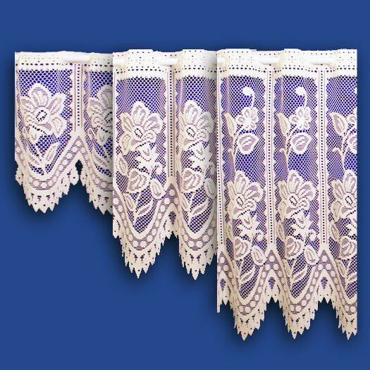 """Andrea Cafe Net In Cream - Sold By The Metre - Available in 12"""", 18"""" & 24"""" Drop"""