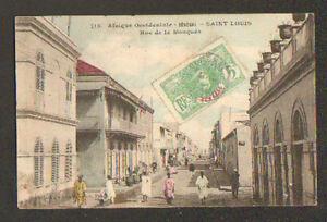 SAINT-LOUIS-SENEGAL-RUE-de-la-MOSQUEE-tres-animee-en-1909