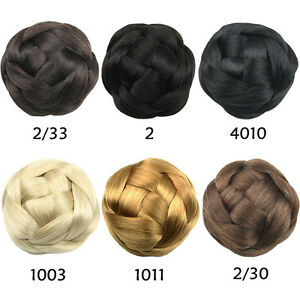 PLAITED PLAIT CLIP IN ON DOME EXTENSION CLIP IN HAIRPIECE ...