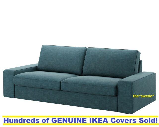 "IKEA KIVIK Three Seat Sofa 89 3//4/"" Cover Slipcover TALLMYRA WHITE //BLACK New 3"