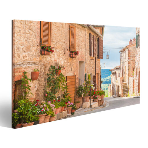 Image Images Sur Toile Les médiévale VIEILLE VILLE en Toscane I Guh