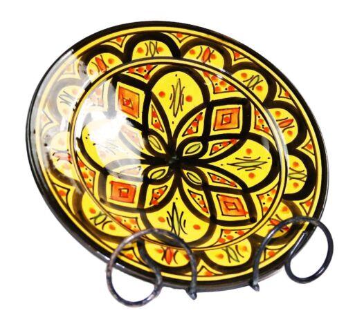 Orientalischer Keramik Teller Schale handbemalt marokkanisch Wandteller 22,5 cm