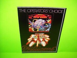 Williams-FIREPOWER-Original-1980-Pinball-Machine-Promo-Flyer-Space-Age-Artwork