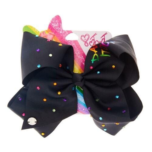 Jo Jo Siwa Large Dance It Out Black Hair Bow Dance Hair Bows Cheerleader Bow