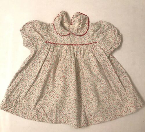 Vintage 1940's feed sack? baby girl dress, floral