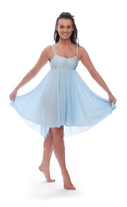 2d39bb49ed35 Image is loading Ladies-Girls-Pale-Blue-Lyrical-Dress-Contemporary-Ballet-