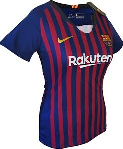 the latest 18225 65bc3 Details about FC Barcelona Women Home Soccer Jersey Shirt #10 Messi All  Sizes 2019 New Nike