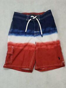 Polo-Ralph-Lauren-Boys-Swim-Trunks-Size-7-Multi-Color-Board-Shorts-Trunks