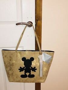 Tn Disney tienda Mickey Mouse de Nueva Bag Black Bnwt Gold dXwxTqEHE