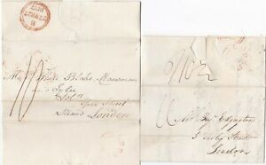 1833-7-HEREFORDS-2-x-RED-UDC-LEDBURY-PMK-LETTERS-GEORGE-SKIPP-J-GIBBS-gt-LONDON