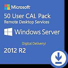WINDOWS SERVER 2012 R2 REMOTE DESKTOP SERVICES RDS 50 USER CAL KEY ESD FATTURA