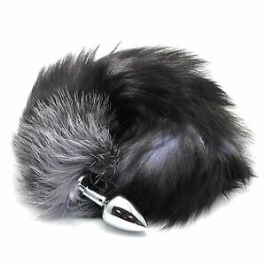 Cosplay Toy Plug Stainless Steel Enchanting Fox Tail Insert Stopper