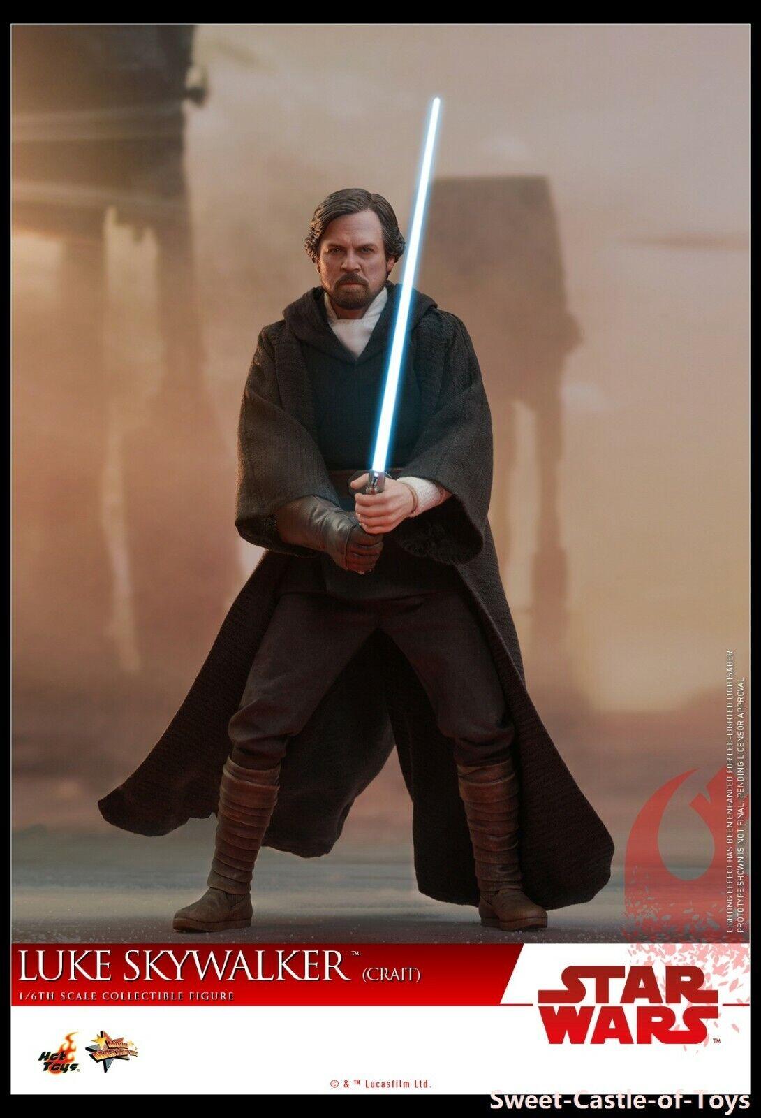 1 6 Hot Toys Star Wars The Last Jedi Luke Skywalker Crait Ver Collectible Figure