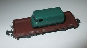 Roco-Niederbord-Dienstwagen-XLM57-Avec-Rietze-Mercedes-L319