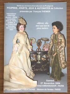 Poupees Jouets Jeux Automates Francois Theimer Doll Auction Catalogue 2003 Ebay