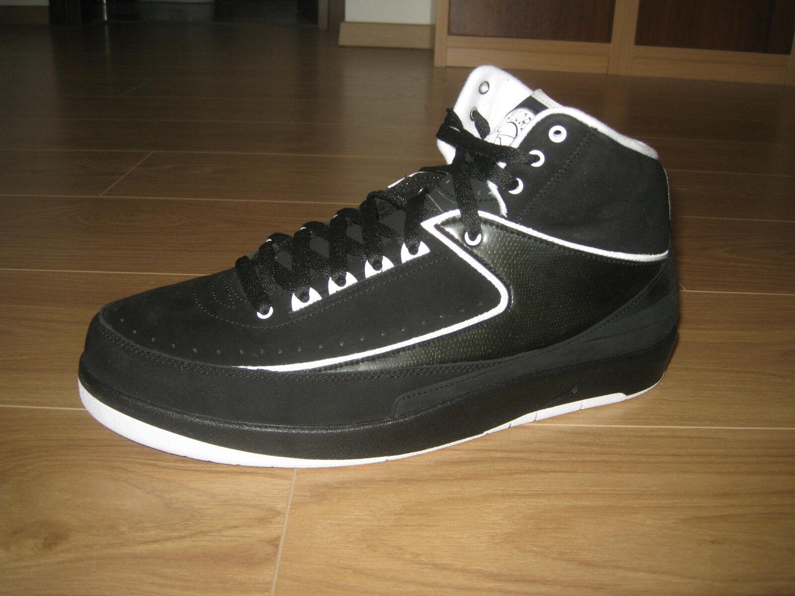 Nike Air Jordan 2 Retro QF Black-White-Suede-Patent Leather