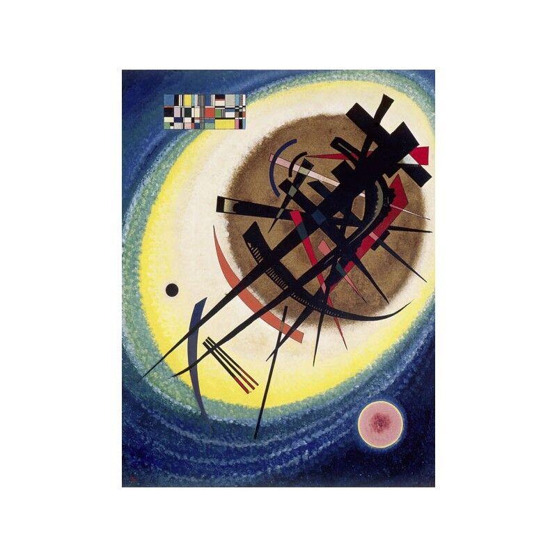 Quadro su Pannello in Legno MDF Wassily Kandinsky Kandinsky Kandinsky The Bright Oval c5eed2