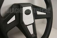 Polaris Rzr 1000 Xp White Carbon Fiber Steering Wheel Inlay Decal Kit Xp1k