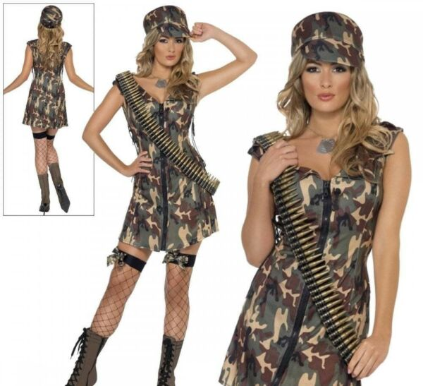 2019 úLtimo DiseñO Damas Sexy Chica Ejército Soldado Uniforme Para Mujer Fancy Dress Costume & Gorra Militar-ver Compra Ahora