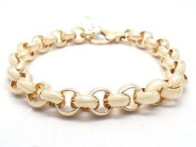 Gerade Neu Erbsband Erbsarmband Armband In 585 / 14 Karat Gelbgold