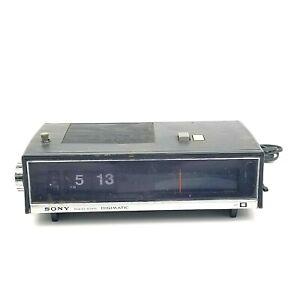Needs-Repair-Vintage-Sony-Flip-Clock-Radio-TFM-C590-Digimatic-FM-AM-Solid-State