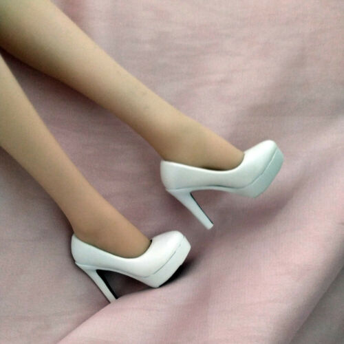 1//6 Scale Female White High-heeled Shoes Model Fit 12/'/' Action Figure
