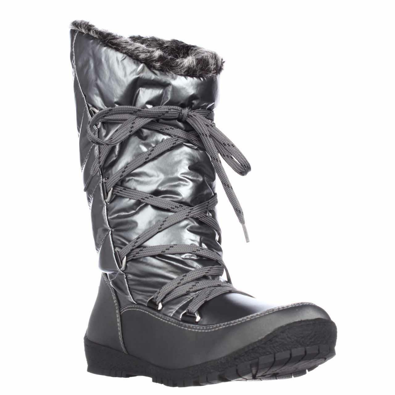 Sporto® Charles Waterproof Lace-Up Mid-Calf Quilted Boot Pewter 8 M
