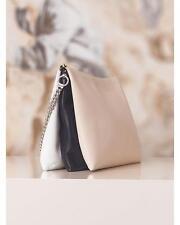 Celine Trio Leather Beige Pink Brown Bag Handbag Clutch with Chain $ 2100
