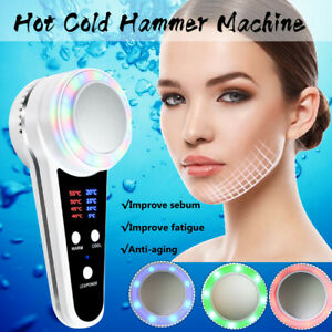 Hot-amp-Cold-Hammer-Cryotherapy-Massage-Skin-Tightening-SPA-Acne-Facial-Machine-UK