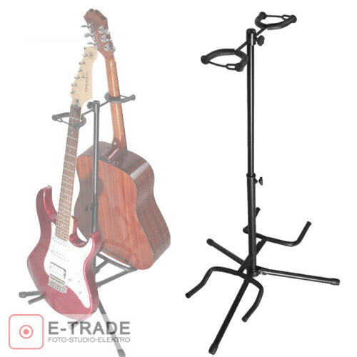 Double Music telescopic Stand Floor Tripod for Acoustic Electric Bass Guitar