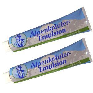 24-75-l-2x-Alpenkraeuter-Emulsion-Creme-200-ml-nach-dem-Bad-zur-Pflege-Massage