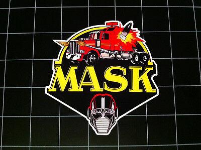M.A.S.K. 80's cartoon toy logo vinyl decal / sticker kenner MASK 80s toys