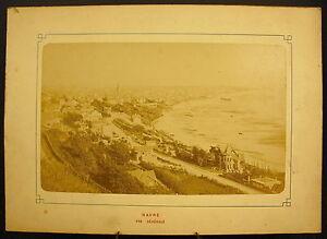 Photo-c-1900-Vue-Generale-du-Havre-la-plage-Photographie-ancienne