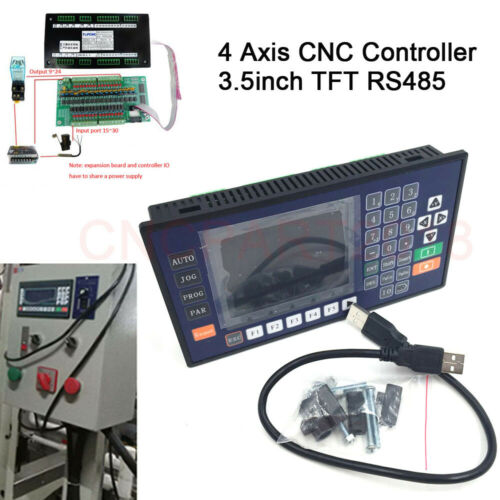 4Axis 750W AC Servo Motor 2.4NM 220V Driver Kit NEMA34/&CNC Controller For Router